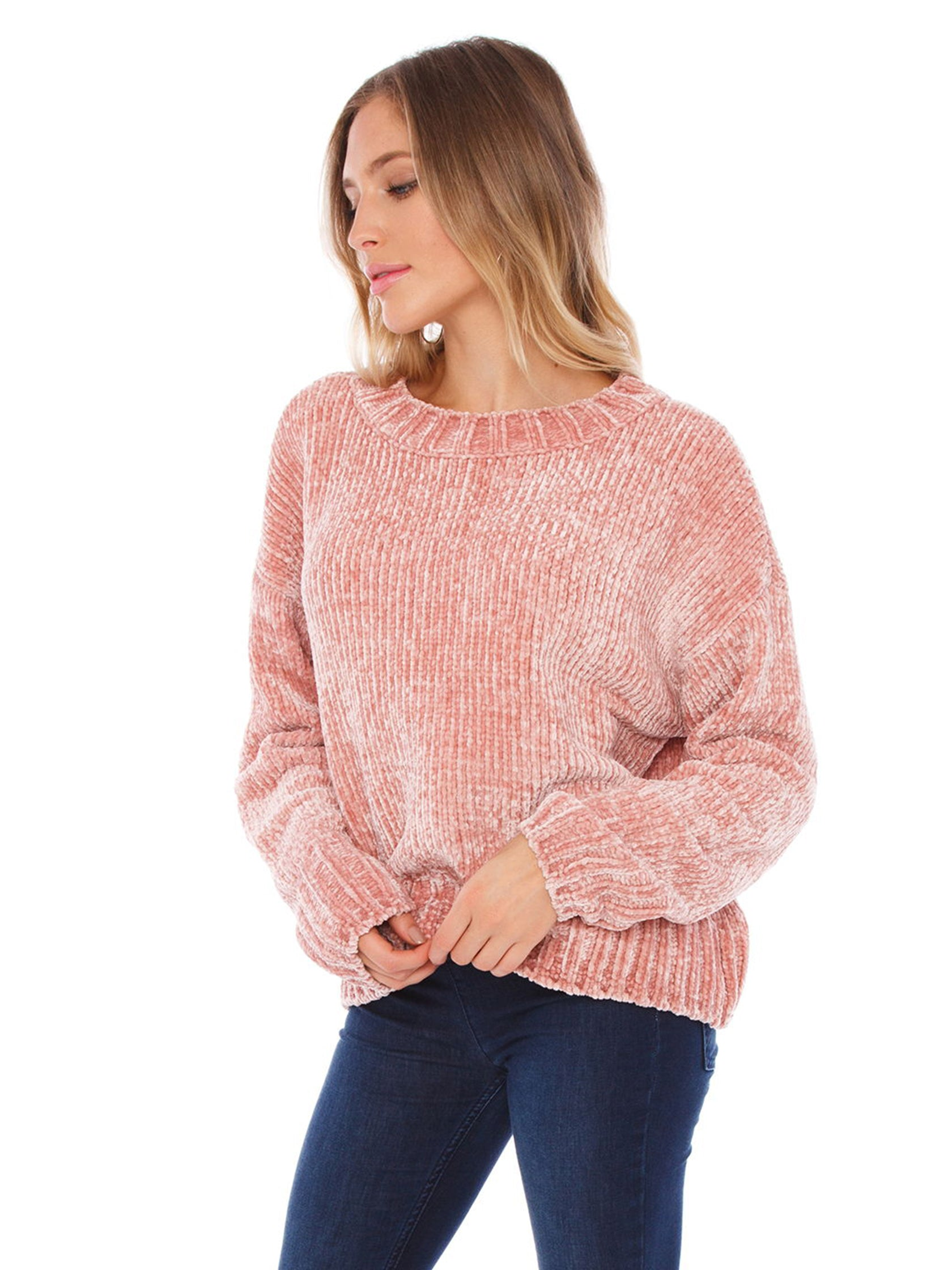 Women wearing a sweater rental from SANCTUARY called Chenille Pullover