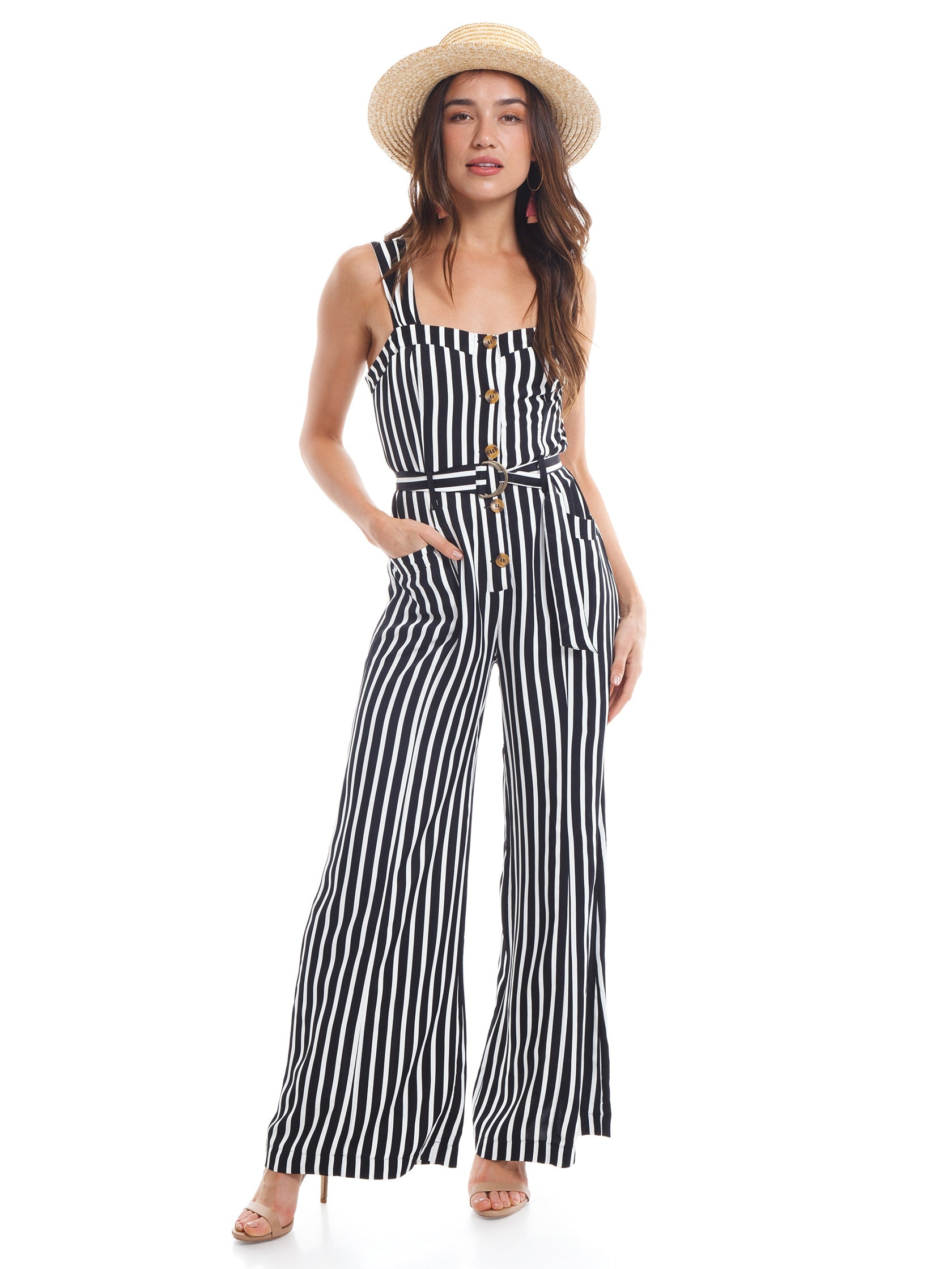 Girl outfit in a jumpsuit rental from Free People called City Girl Jumpsuit