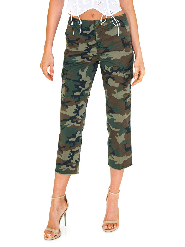 Women wearing a pants rental from SANCTUARY called Combat Crop Pants