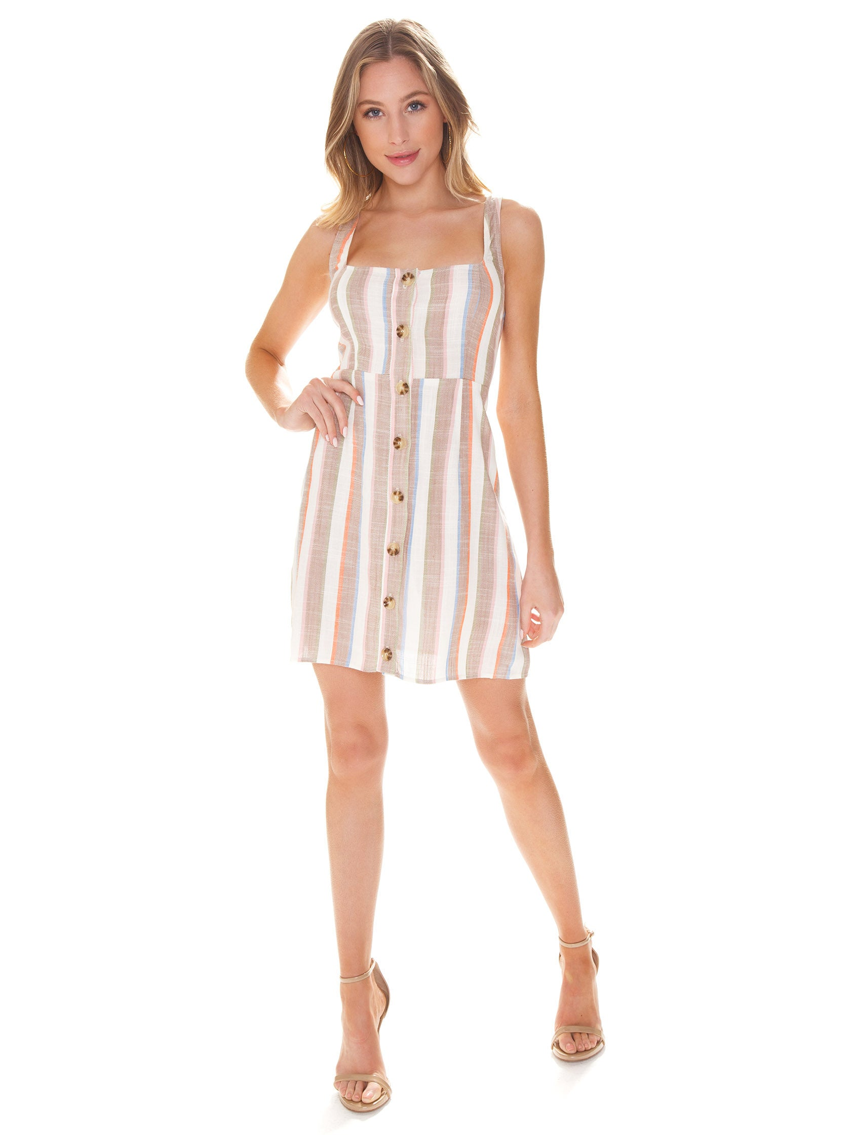 Girl outfit in a dress rental from Show Me Your Mumu called Cora Dress