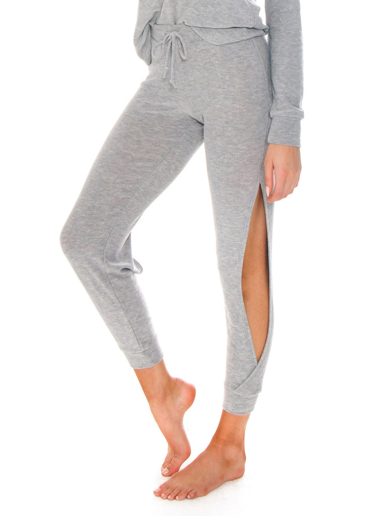 Women wearing a bottoms rental from Chaser called Cozy Knit Open Vent Jogger