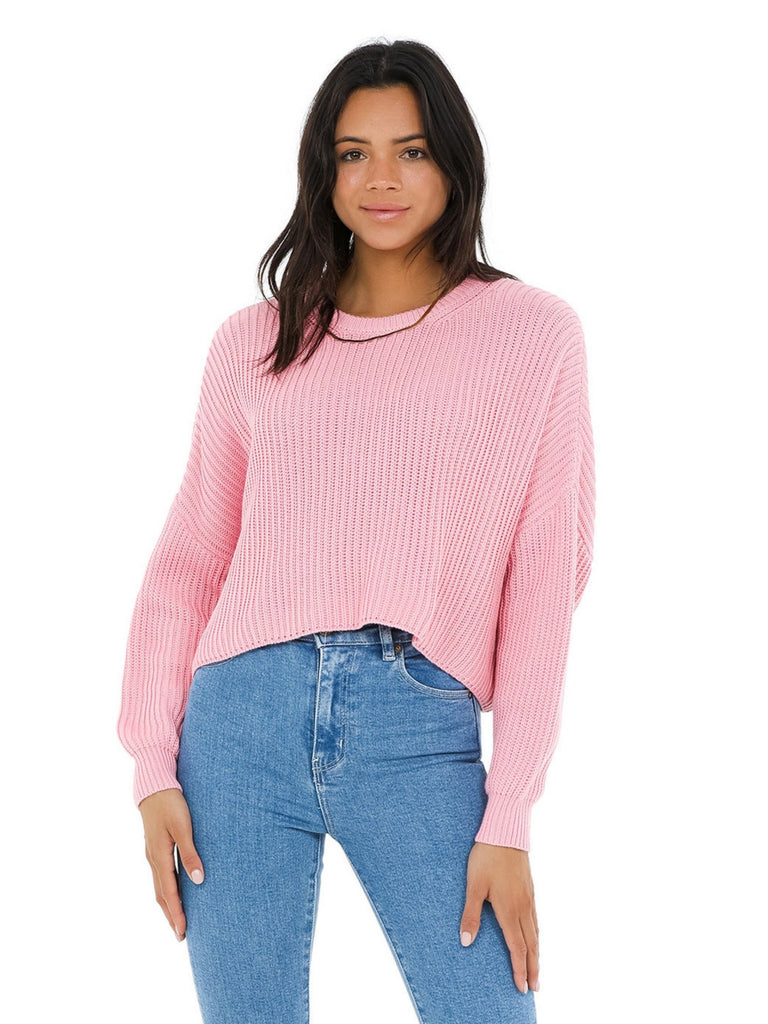 Women wearing a sweater rental from FashionPass called Stripe Mix Color Sweater