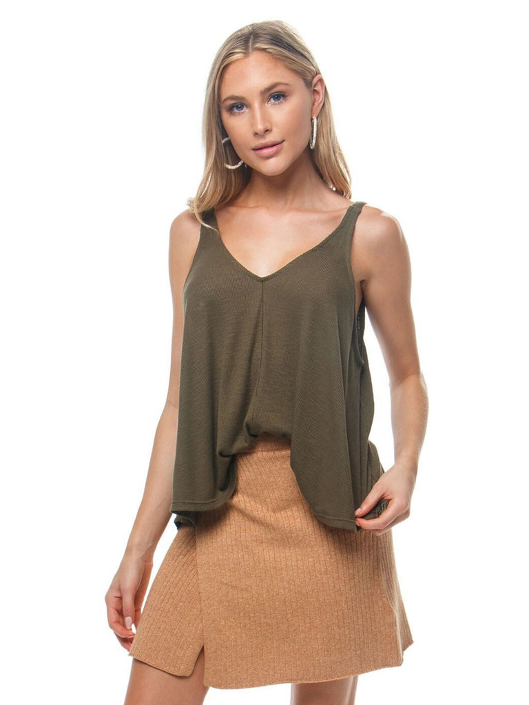 Girl outfit in a cami rental from Free People called Canyonlands Cord Jumper