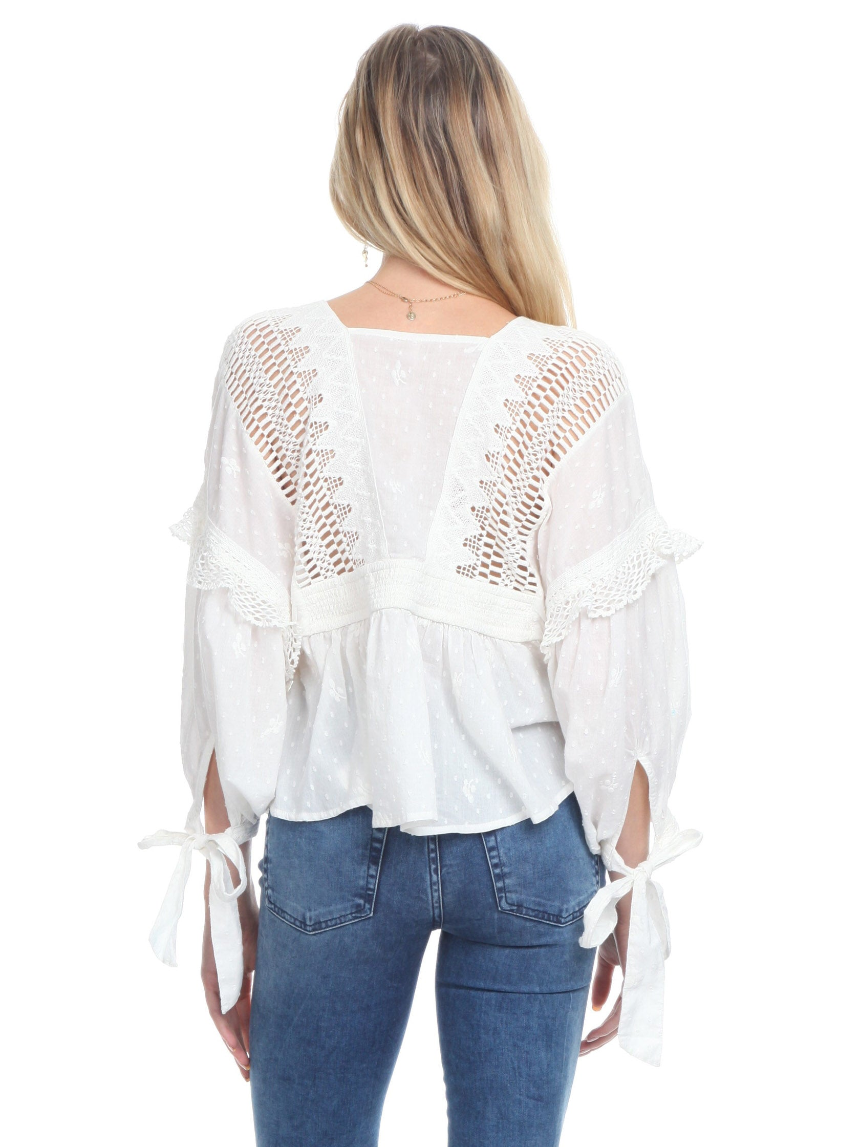 Women outfit in a top rental from Free People called Drive You Mad Blouse