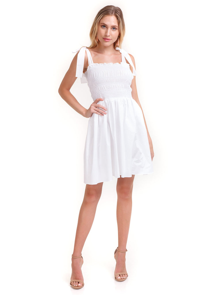Girl outfit in a dress rental from Amanda Uprichard called Topanga Mini Dress