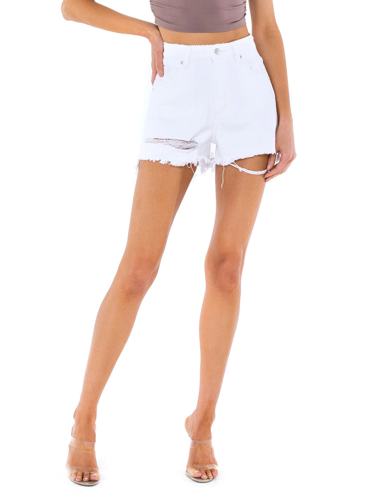 Woman wearing a shorts rental from ROLLAS called Ribbed Ayla Legging