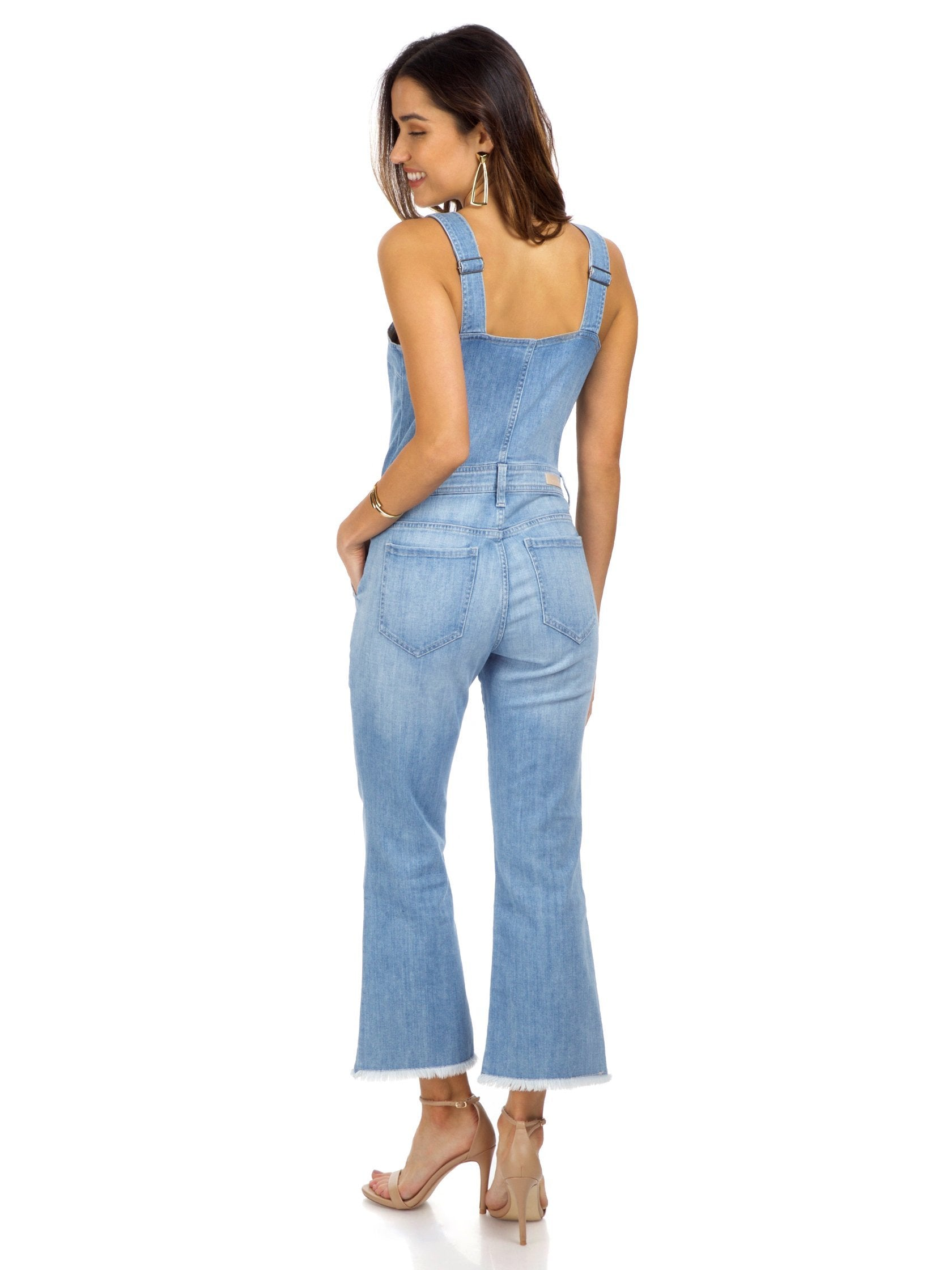 Women wearing a jumpsuit rental from ei8ht dreams called Flare Overall