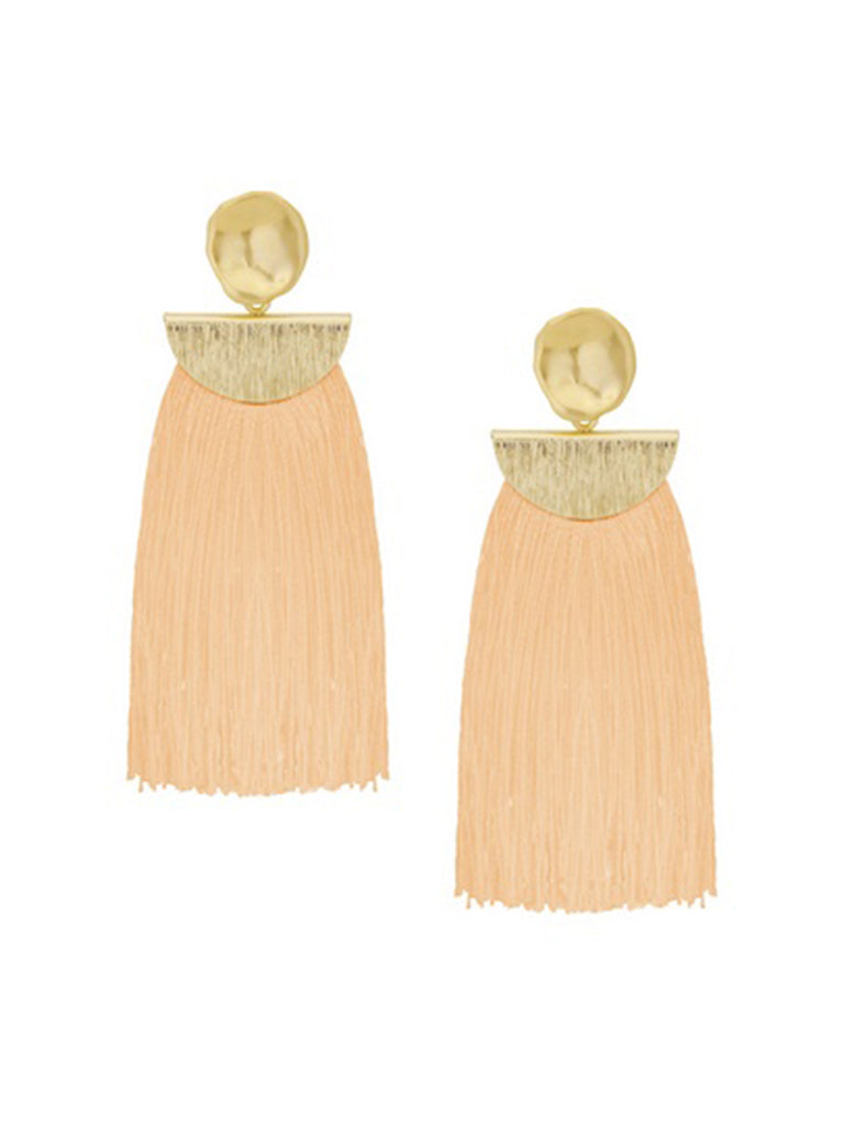 ELLIE CORAL TASSEL EARRINGS