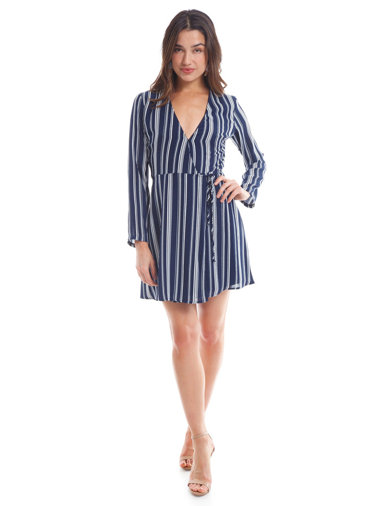 Women wearing a dress rental from Lush called Elly Wrap Dress