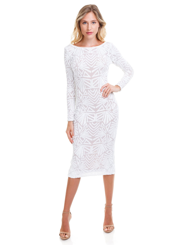 Women outfit in a dress rental from Dress the Population called Abby Off Shoulder Tiered Maxi Dress