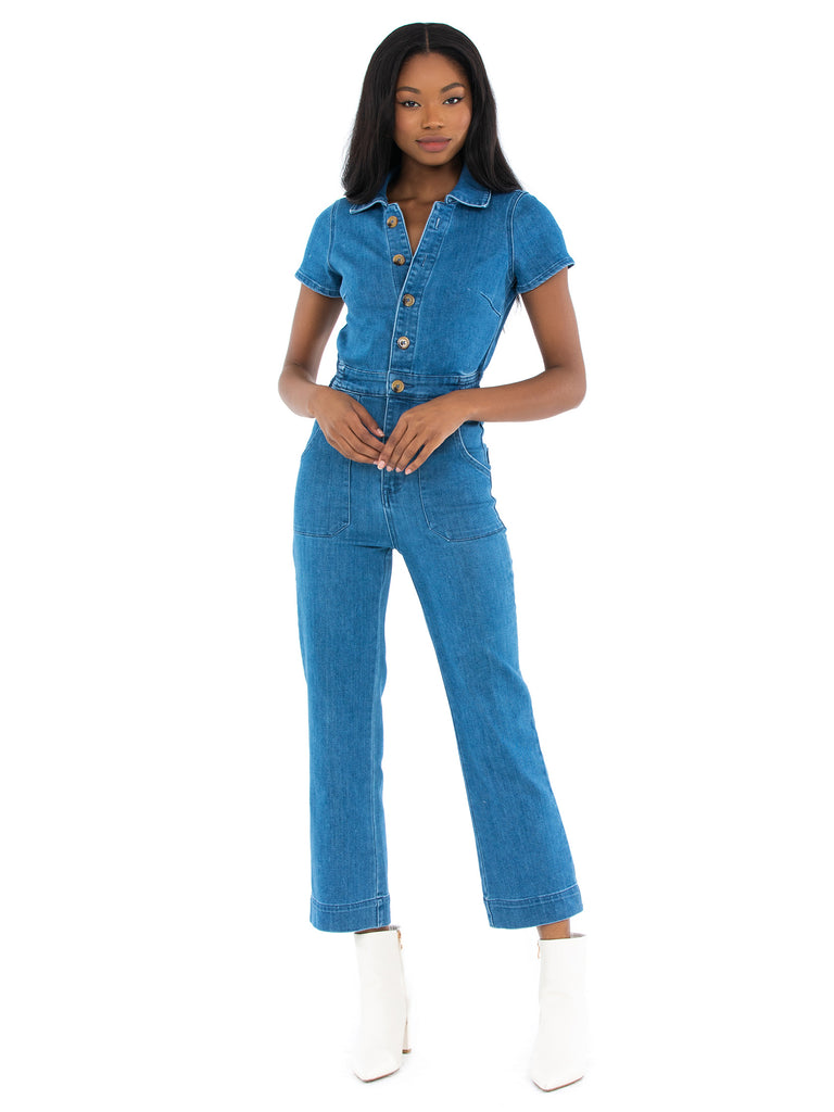 Women outfit in a jumpsuit rental from Show Me Your Mumu called Sharon Skirt