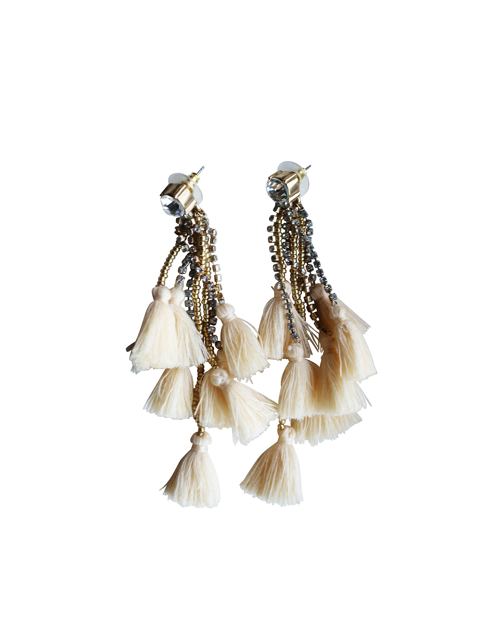 Women outfit in a earrings rental from Gemelli called Everything Earrings