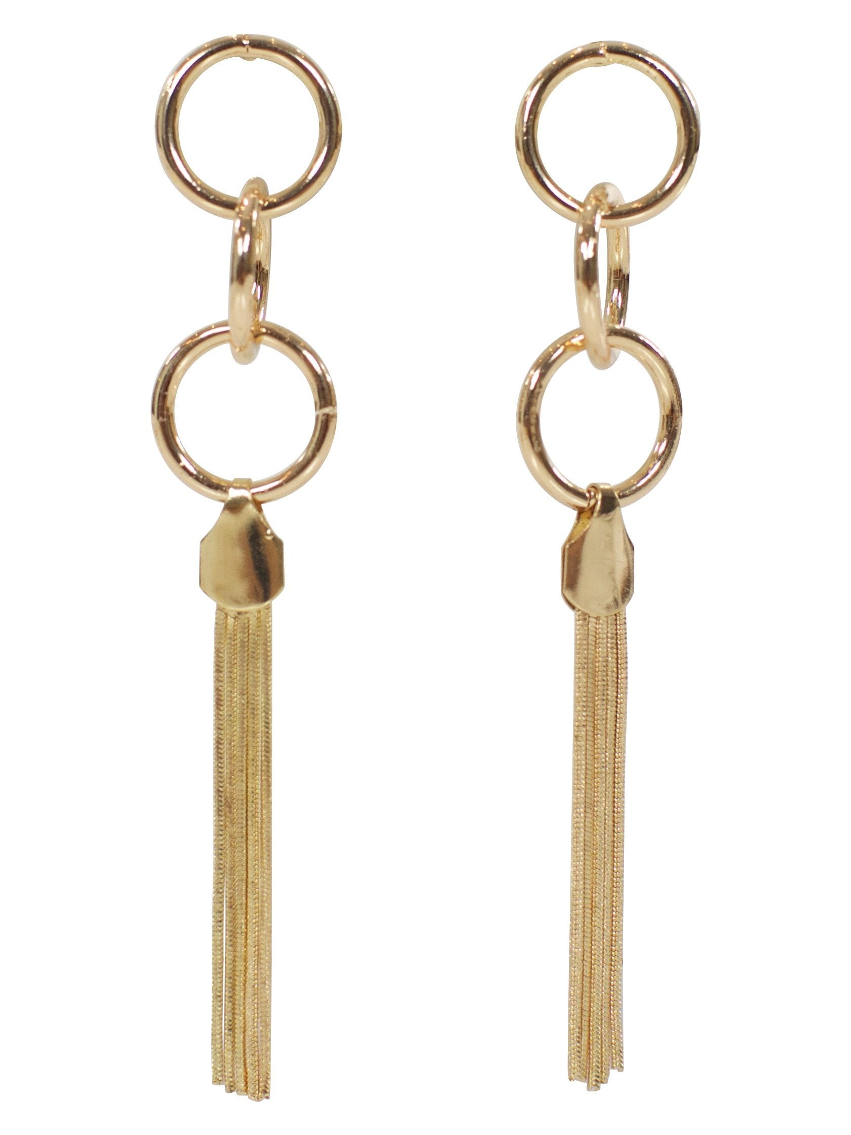 Women outfit in a earrings rental from FashionPass called Carrie Dangle Earring