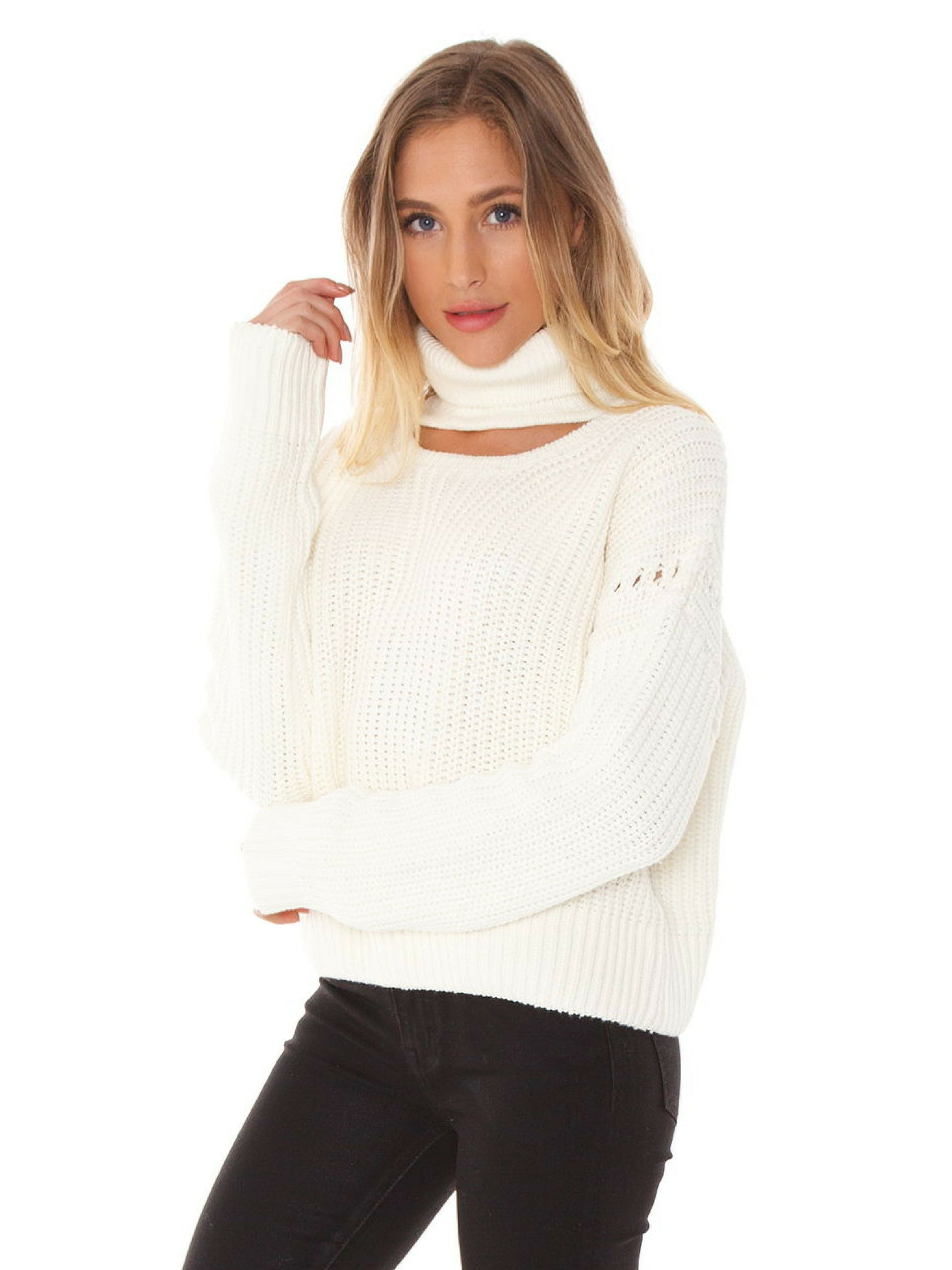 Women wearing a sweater rental from Bishop + Young called Fireside Cropped Sweater