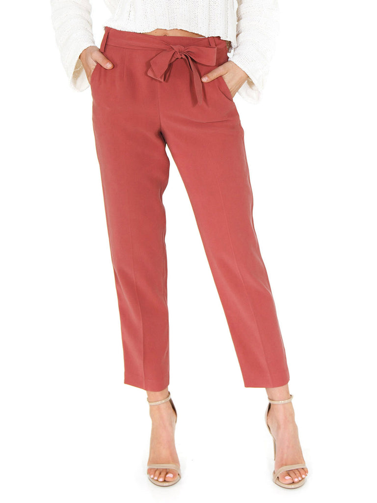 Women outfit in a pants rental from 1.STATE called Tie Front Blouse