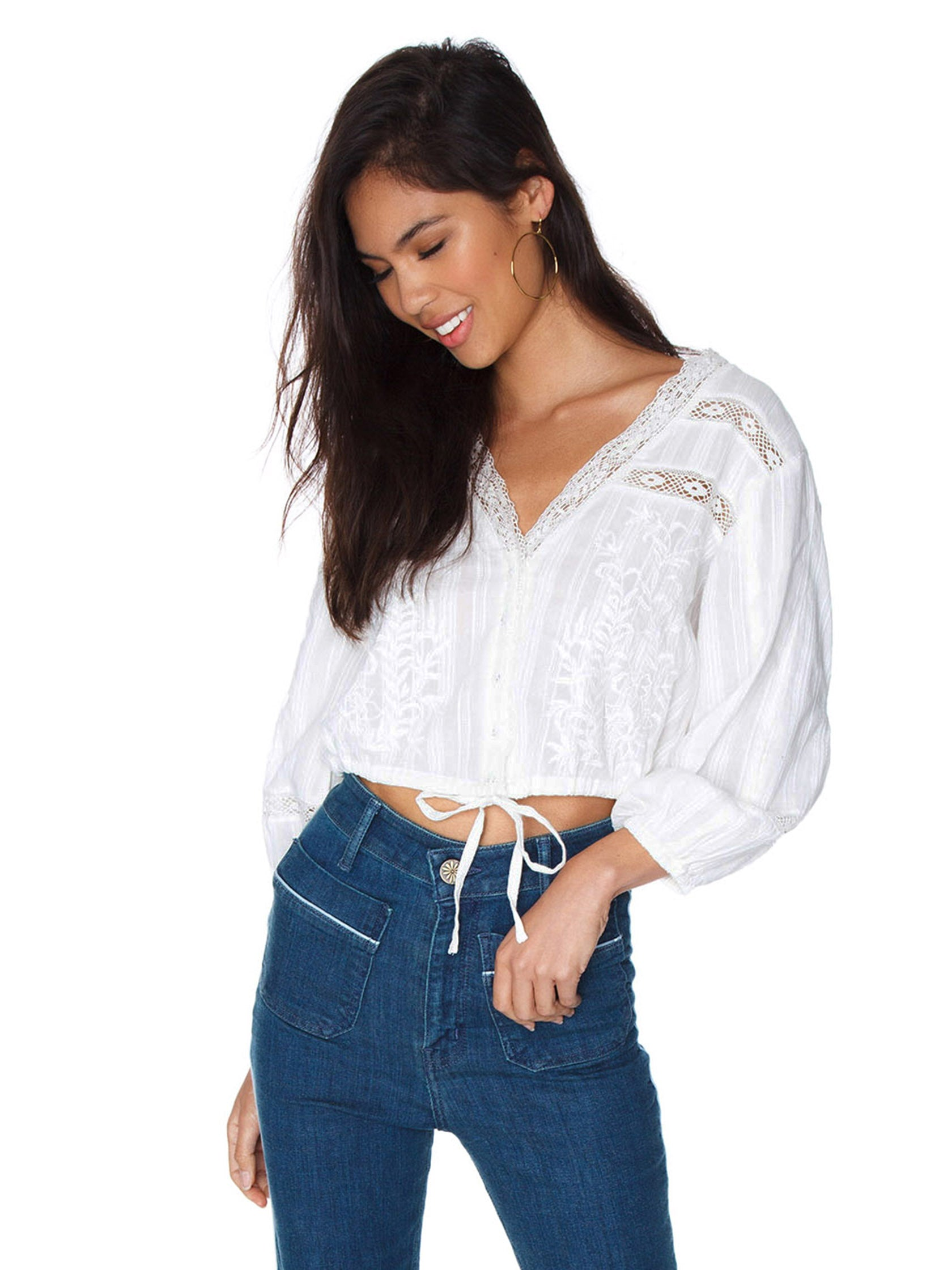 66c28863a7 Girl outfit in a top rental from Free People called Follow Your Heart Top