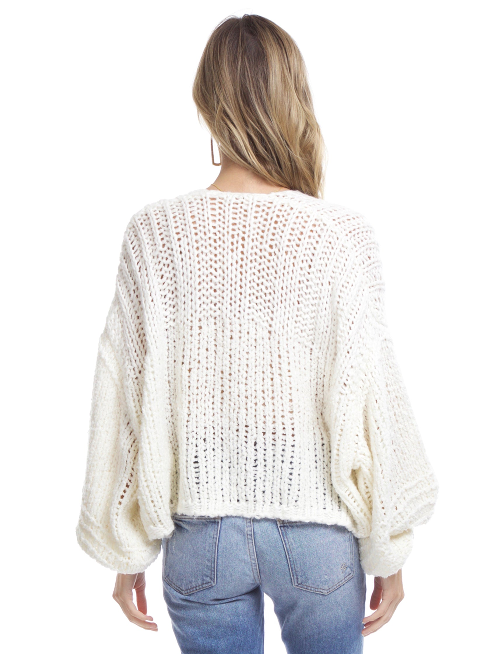 Women outfit in a cardigan rental from Free People called Chamomile Cardi