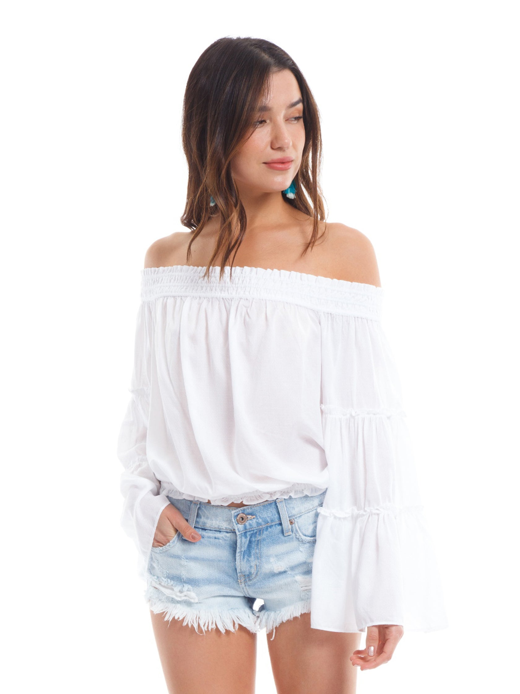 Woman wearing a top rental from Free People called Free Spirit Top