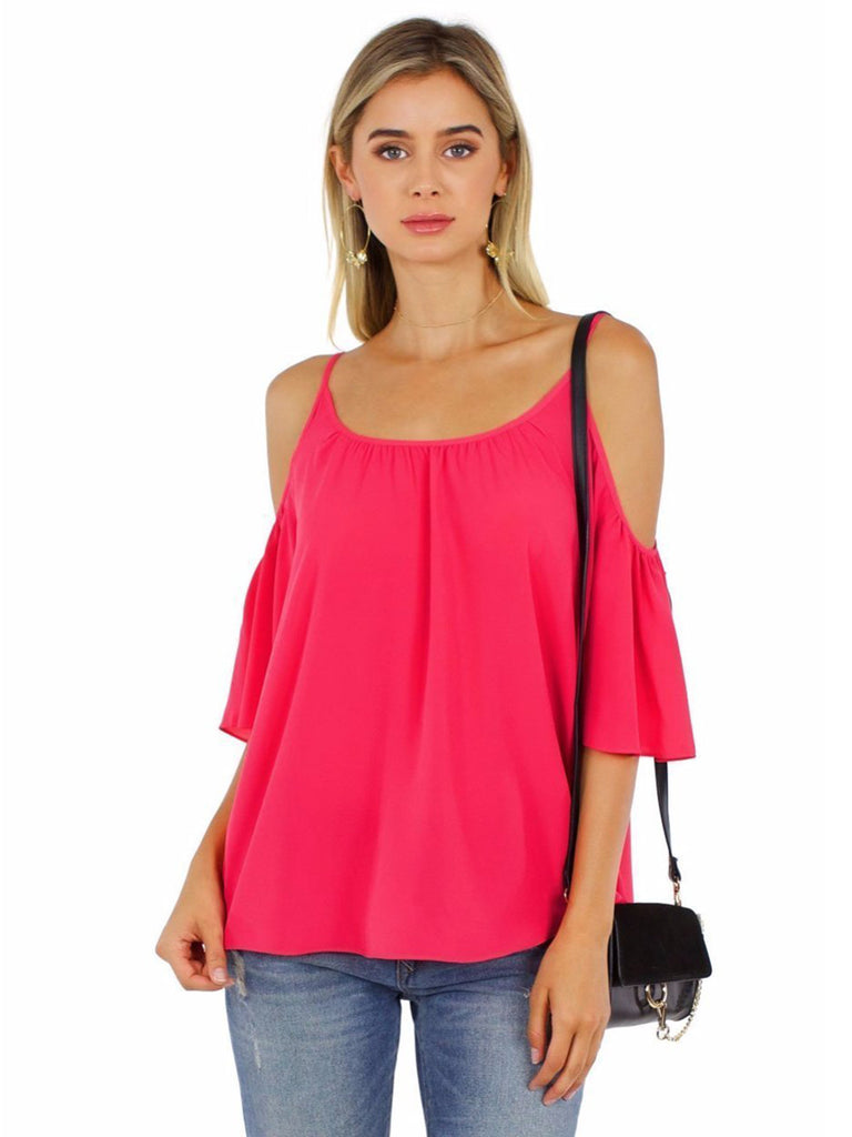 Girl wearing a top rental from French Connection called Corsica Sheer Pop Over Blouse
