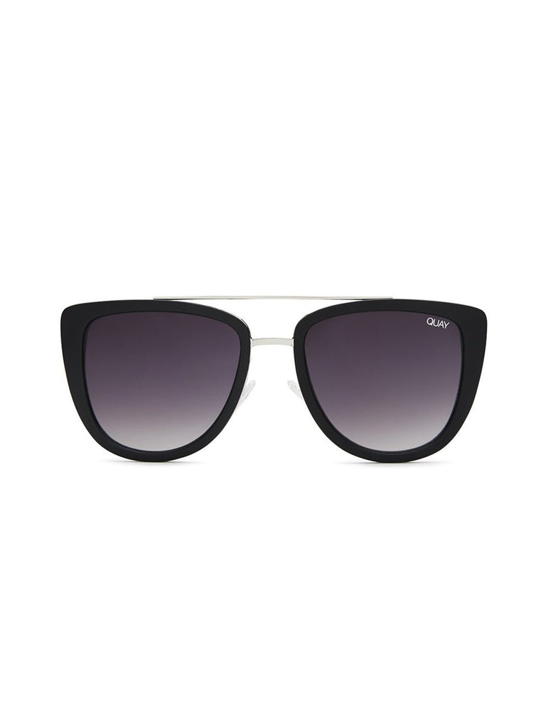 Girl wearing a sunglasses rental from Quay Australia called Ezra Bralette