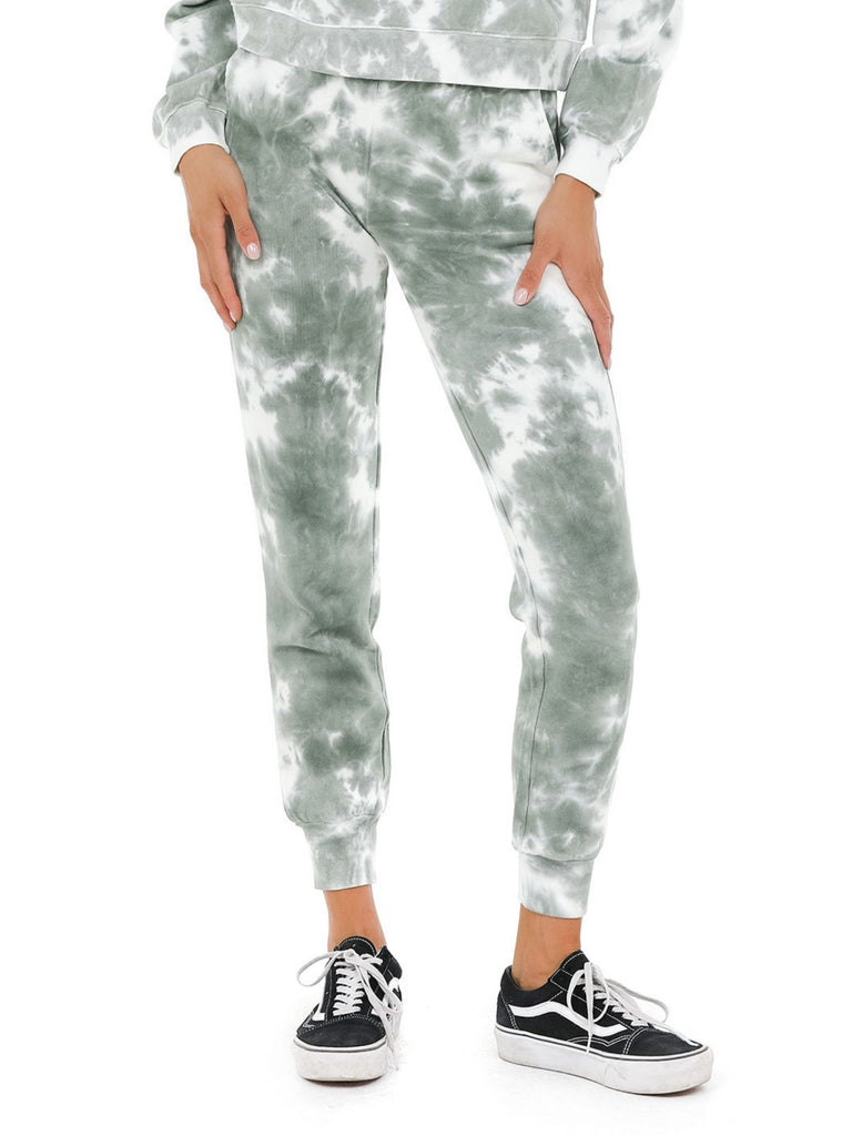 Women outfit in a joggers rental from 525 called Tie Dye Basic Crew