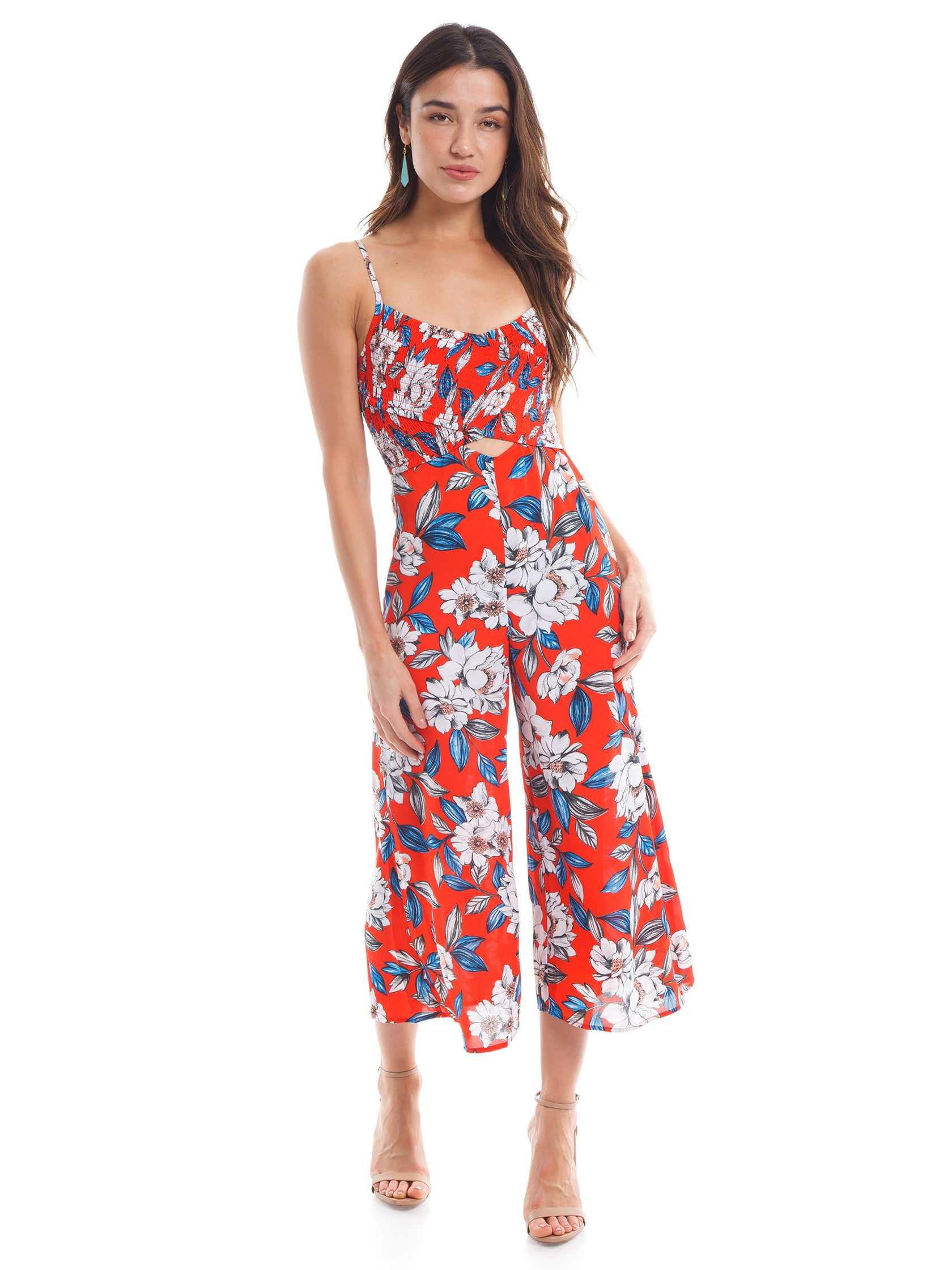 Girl outfit in a jumpsuit rental from Ali & Jay called Full Bloom Jumpsuit