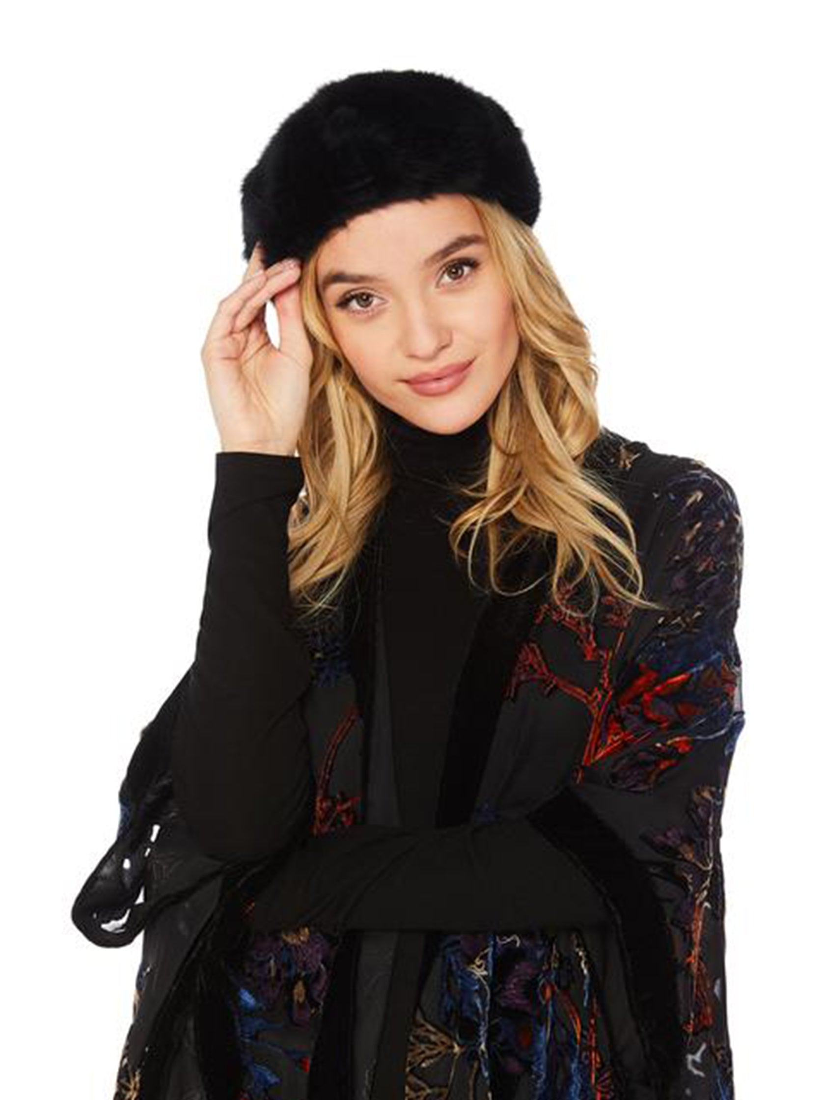 Girl wearing a hat rental from Michael Stars called Fuzzy Beret