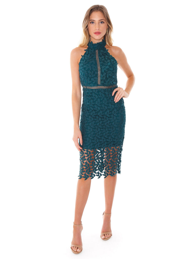 Women outfit in a dress rental from BARDOT called Brynn Deep Plunge Dress