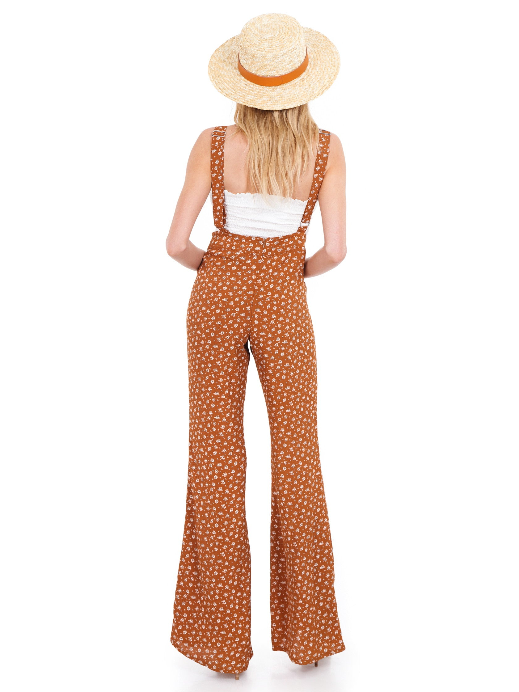 Women wearing a jumpsuit rental from Blue Life called Georgina May Overall