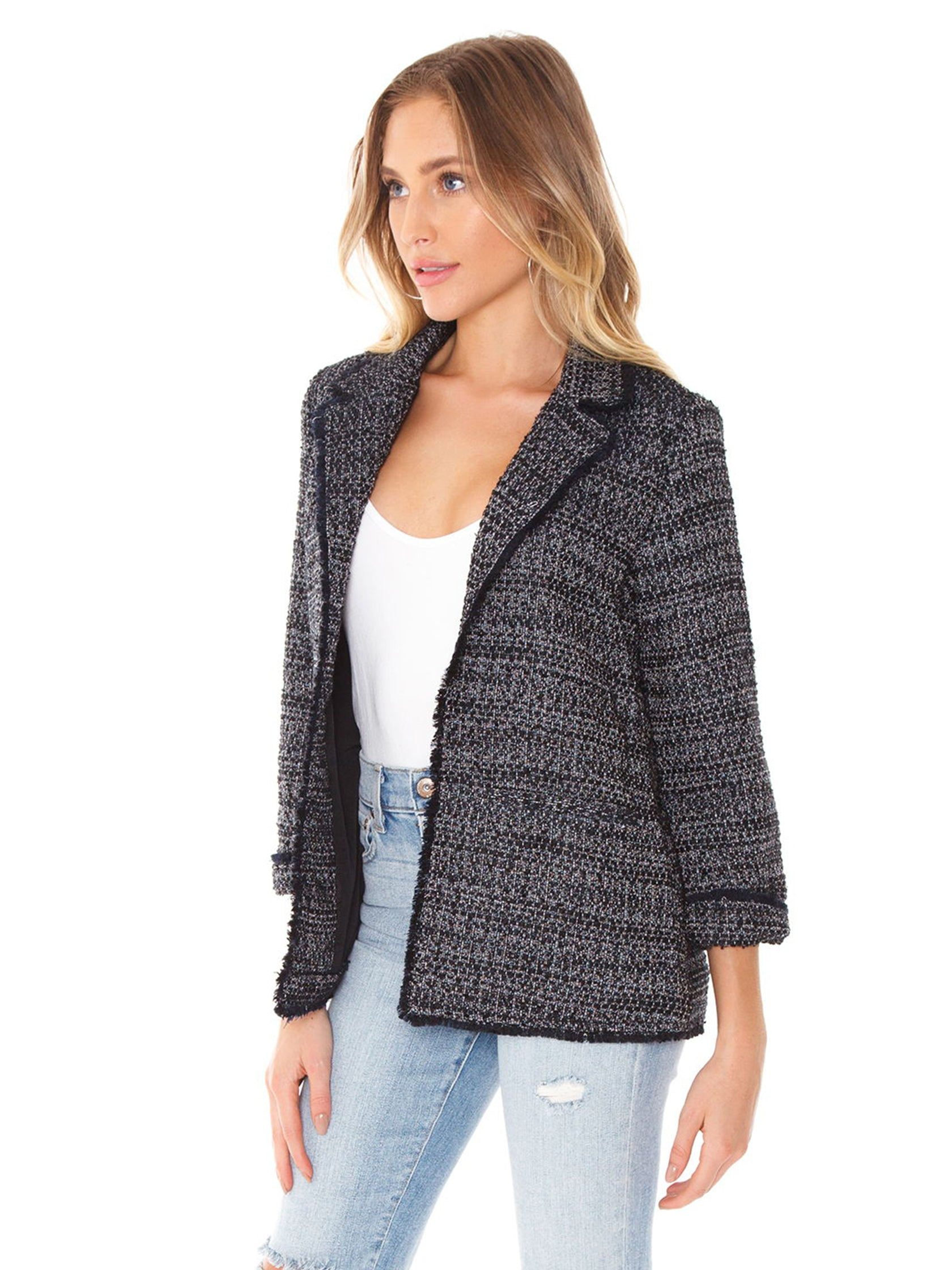 Women wearing a blazer rental from Cupcakes and Cashmere called Gregory Blazer