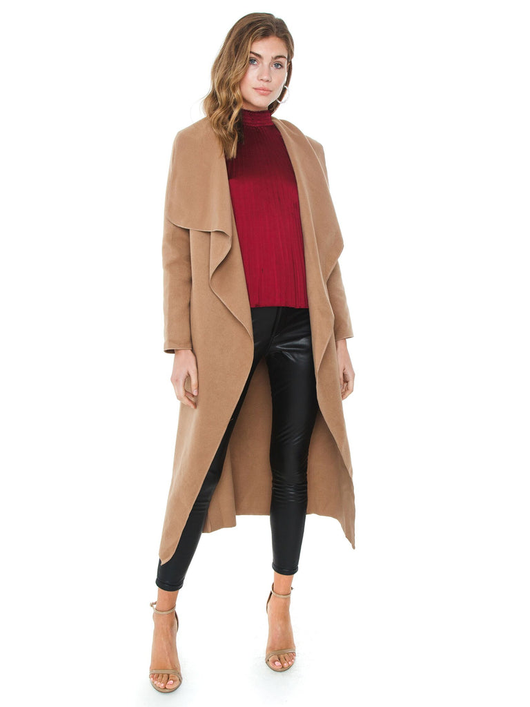 Girl outfit in a jacket rental from SAGE THE LABEL called Still The One Wrap Coat