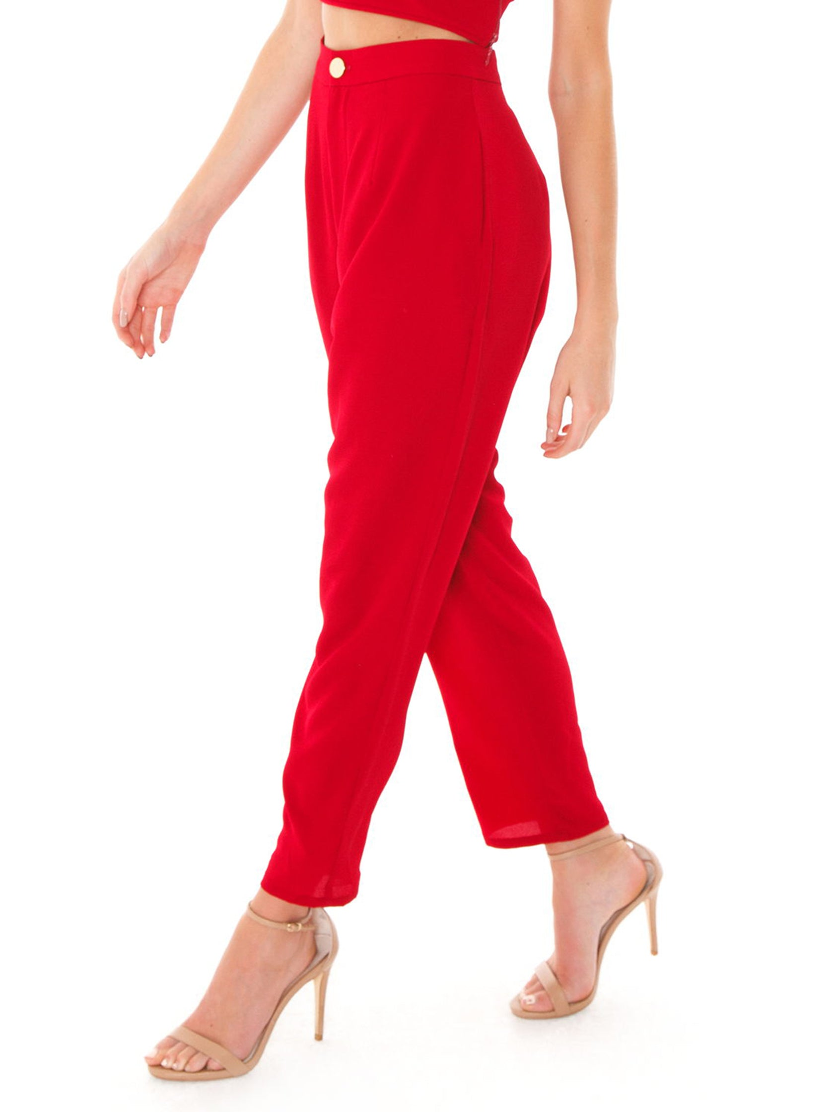 Women wearing a pants rental from Show Me Your Mumu called Hepburn Pants