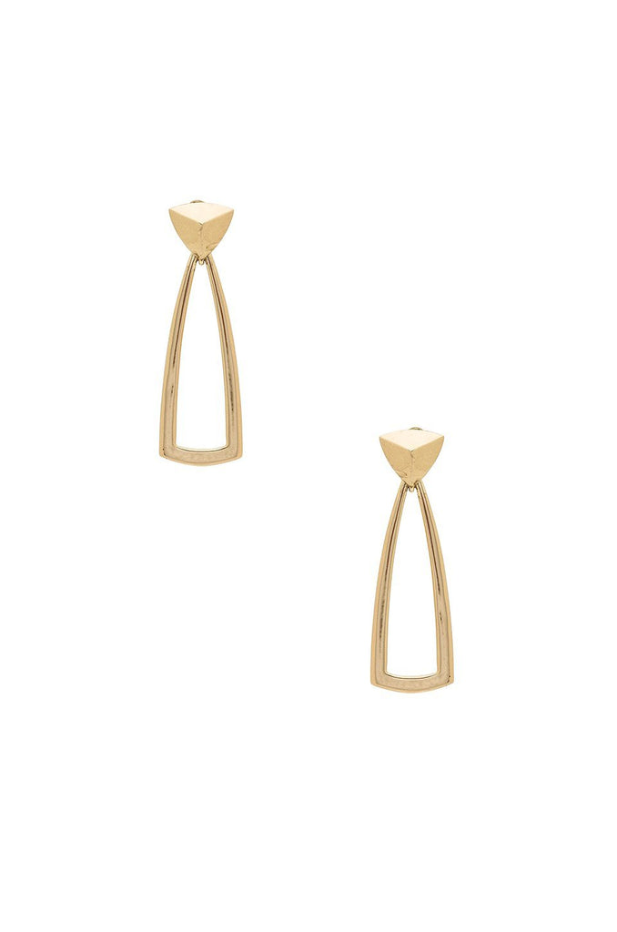 Women wearing a earrings rental from House of Harlow 1960 called Nelli Cuff Bracelet