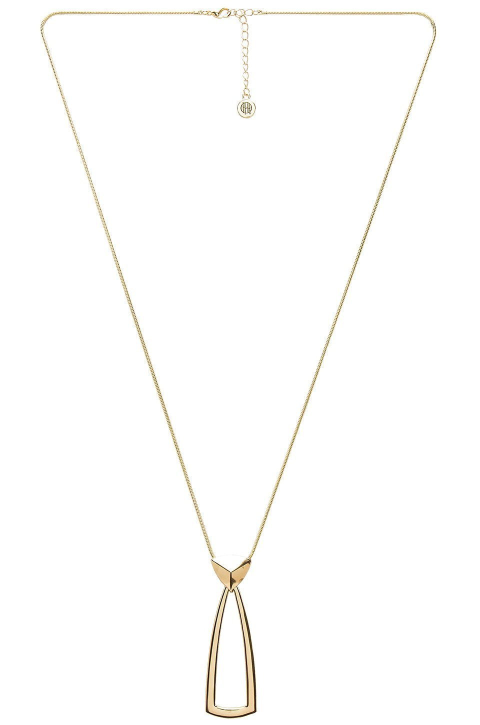 Girl wearing a necklace rental from House of Harlow 1960 called Mesa Door Knocker Pendant Necklace  sc 1 st  FashionPass & House of Harlow 1960 Rental | Mesa Door Knocker Pendant Necklace ...