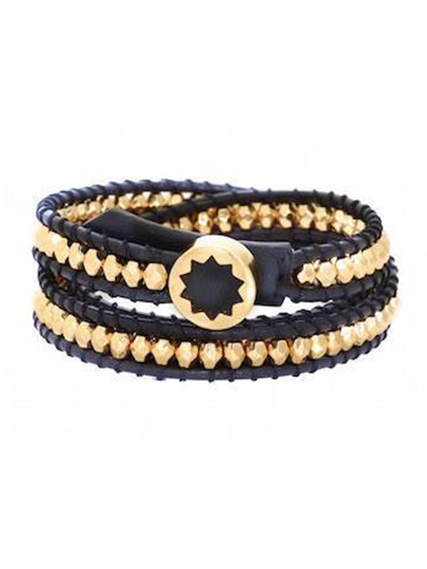 Women outfit in a bracelet rental from House of Harlow 1960 called Karma Wrap Bracelet