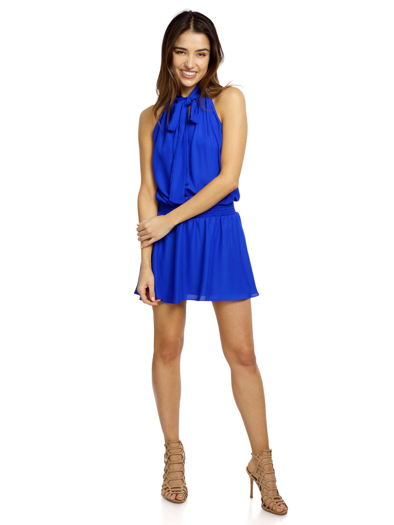 Women outfit in a dress rental from Amanda Uprichard called Venus Mini Dress