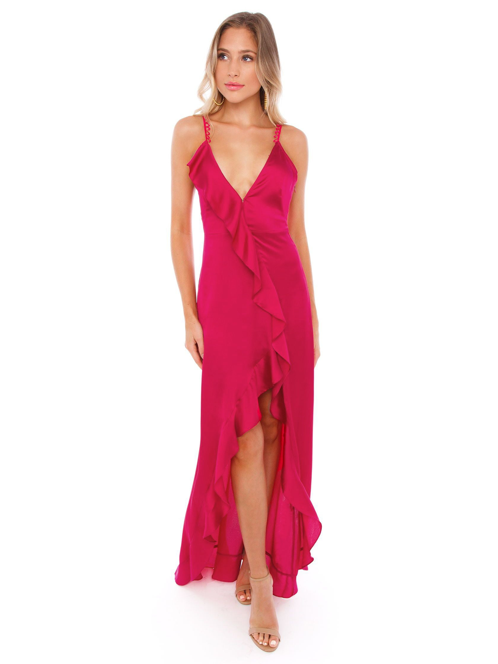 f00b23180f Girl outfit in a dress rental from For Love   Lemons called Isabella  Ruffled Maxi Dress