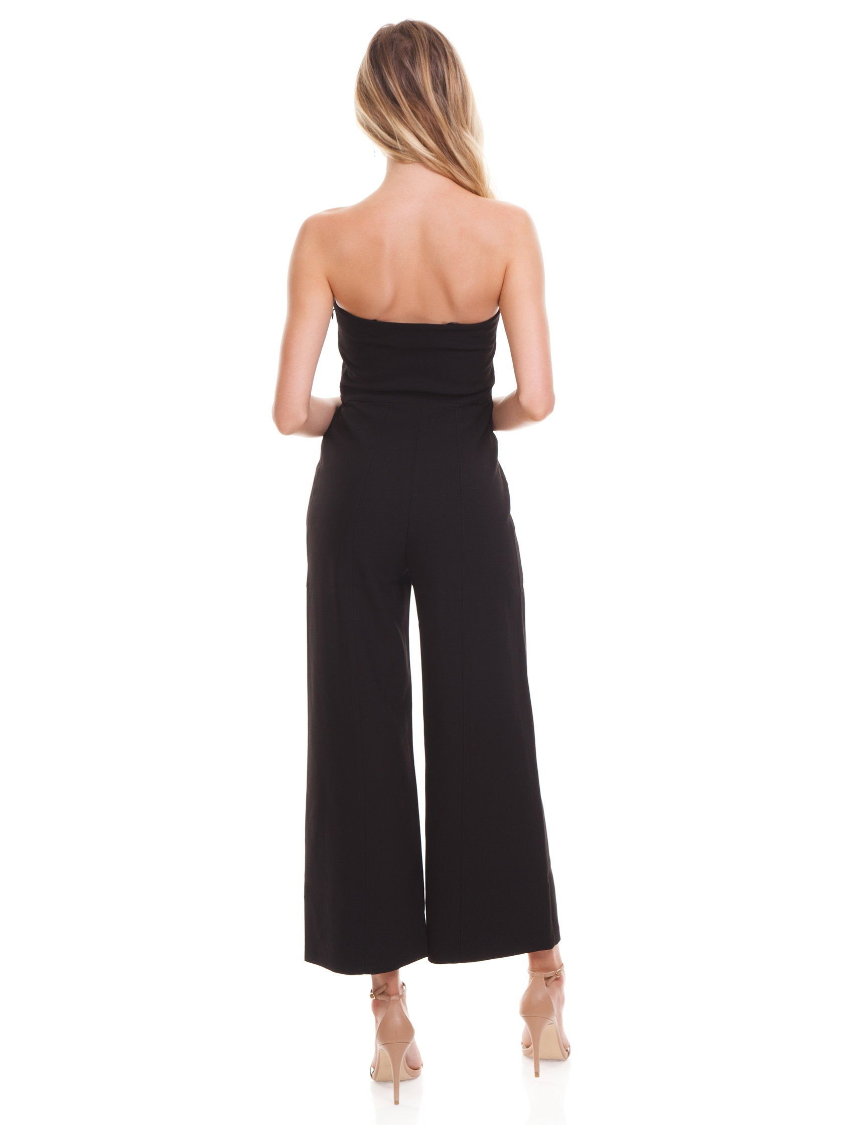 Women wearing a jumpsuit rental from LIKELY called Isla Jumpsuit