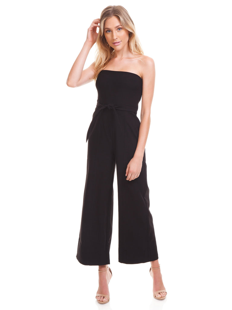 Girl wearing a jumpsuit rental from LIKELY called Carmen Maxi Dress