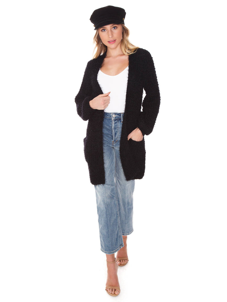 Women outfit in a cardigan rental from BB Dakota called Moto Finish Textured Moto Jacket