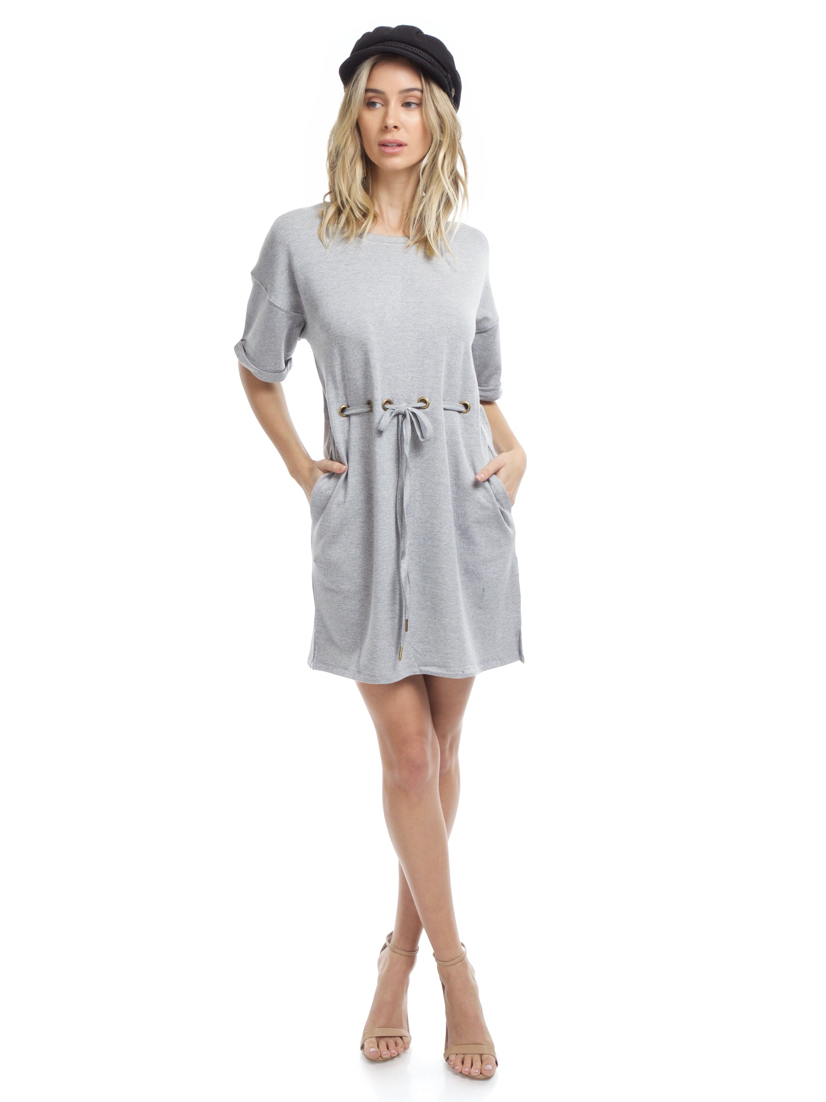 Girl outfit in a dress rental from FashionPass called Jamie Belt Shirt Dress