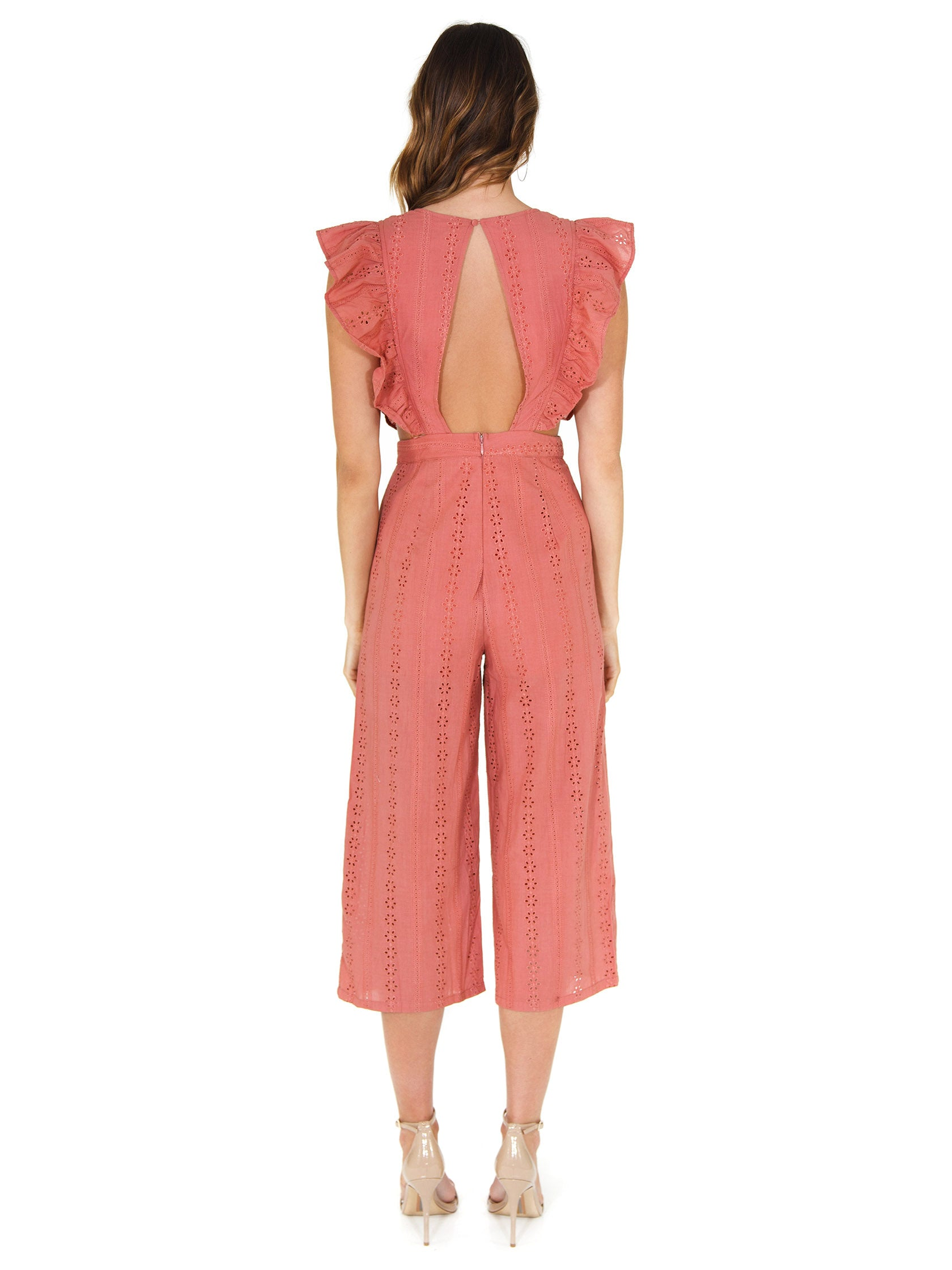 Women wearing a jumpsuit rental from FashionPass called Jessie Jumpsuit