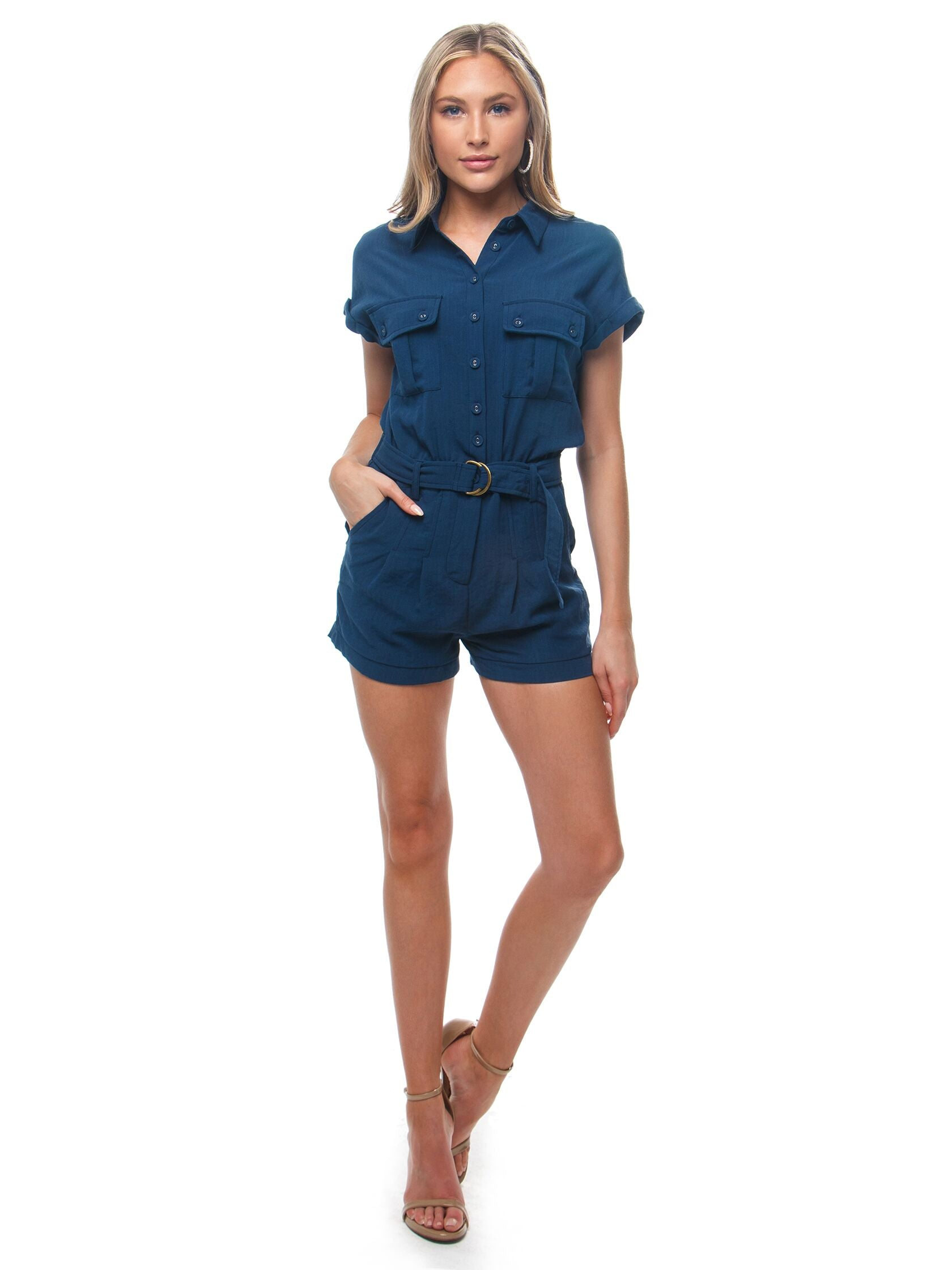 Girl outfit in a romper rental from Heartloom called Jude Romper