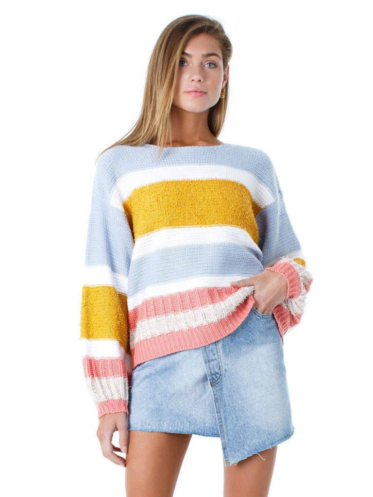 Women wearing a sweater rental from FashionPass called Kacey Sweater