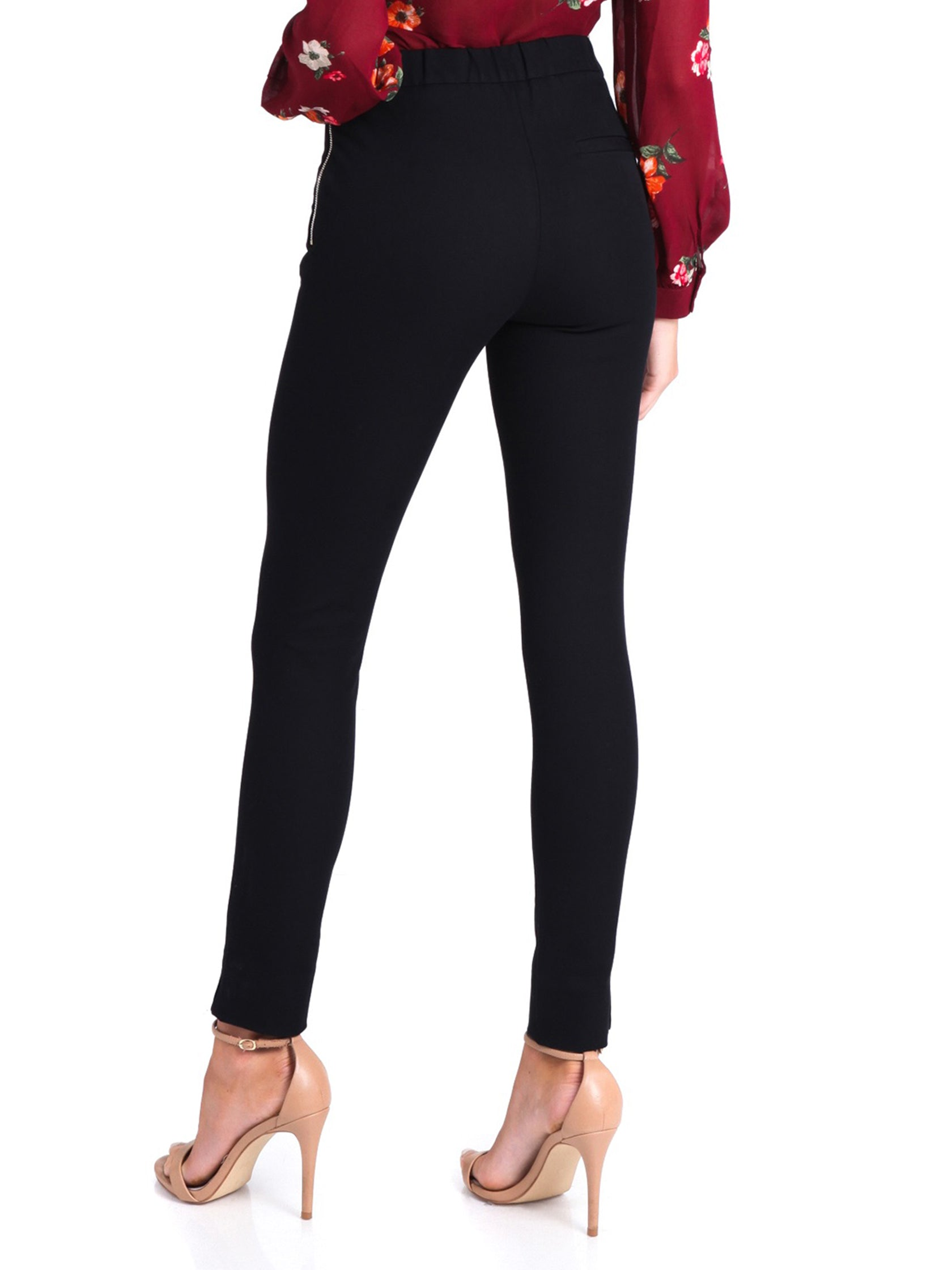Women outfit in a pants rental from French Connection called Kara Twill Skinny Trousers