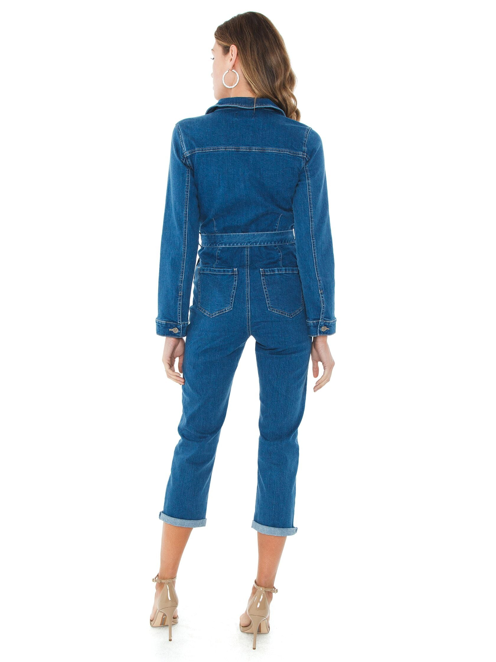 Women wearing a jumpsuit rental from MINKPINK called Keeping Time Boiler Suit