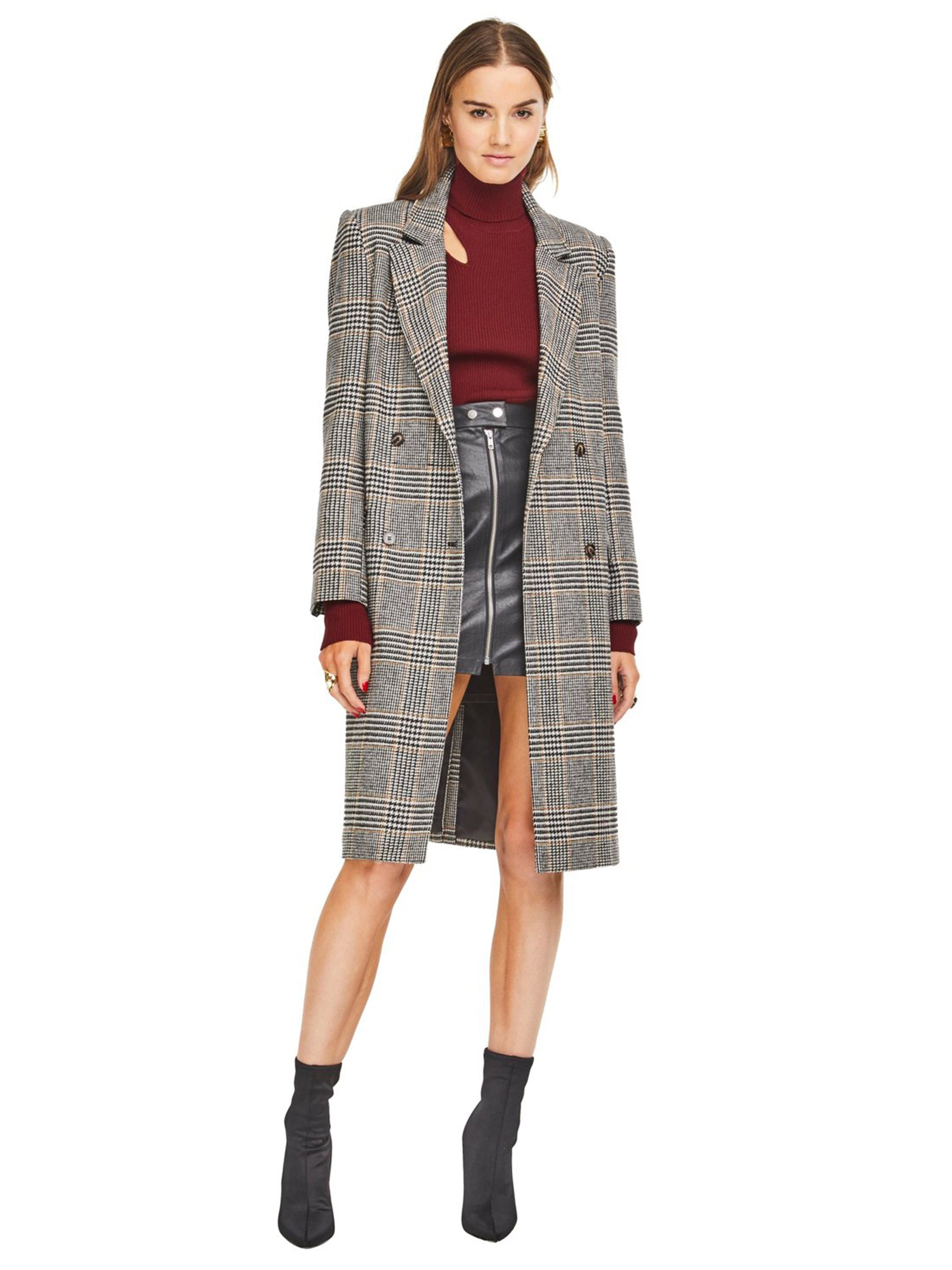 Girl outfit in a jacket rental from ASTR called Kensington Coat