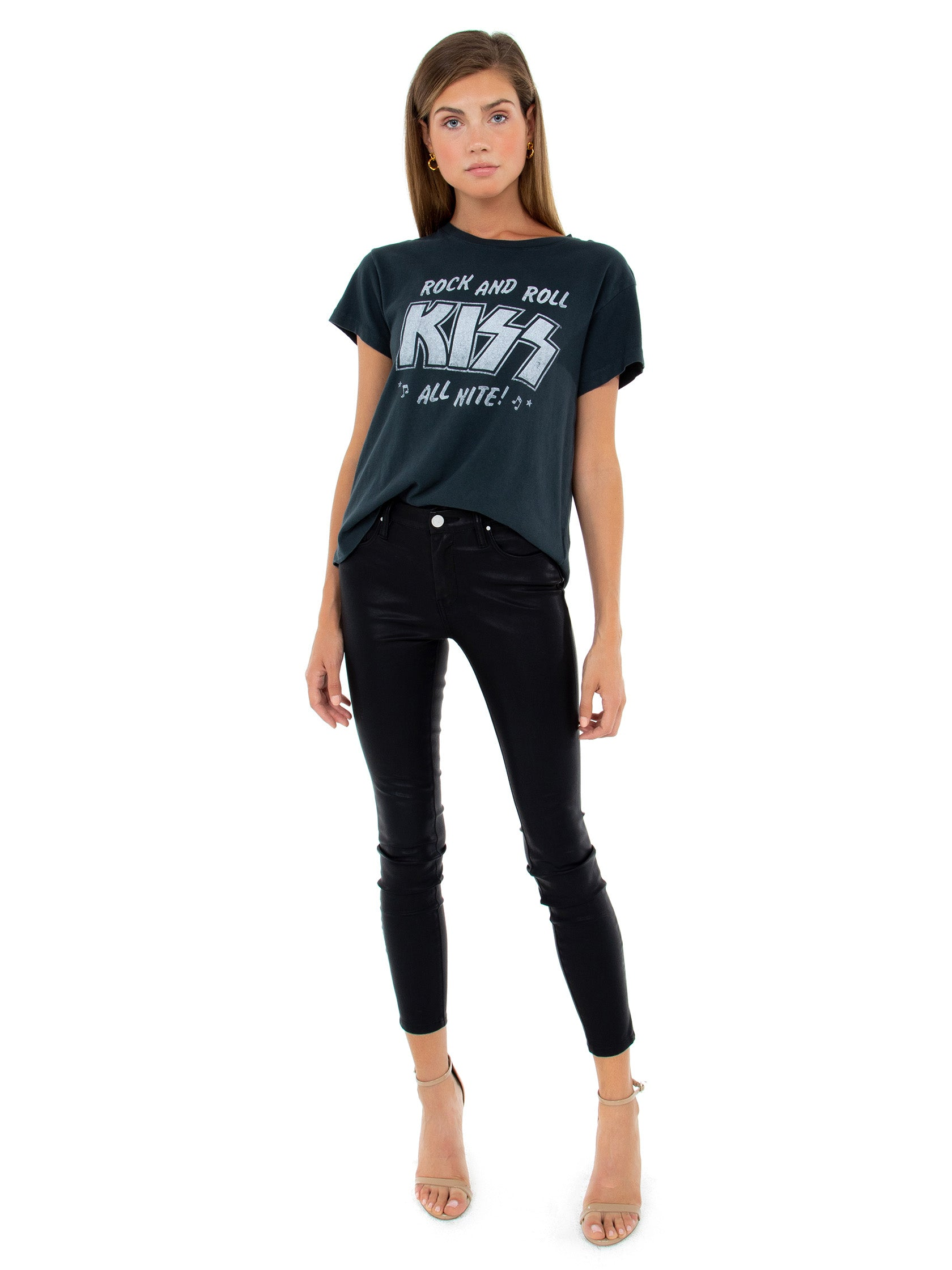Girl wearing a top rental from DAYDREAMER called Kiss All Nite Tour Tee
