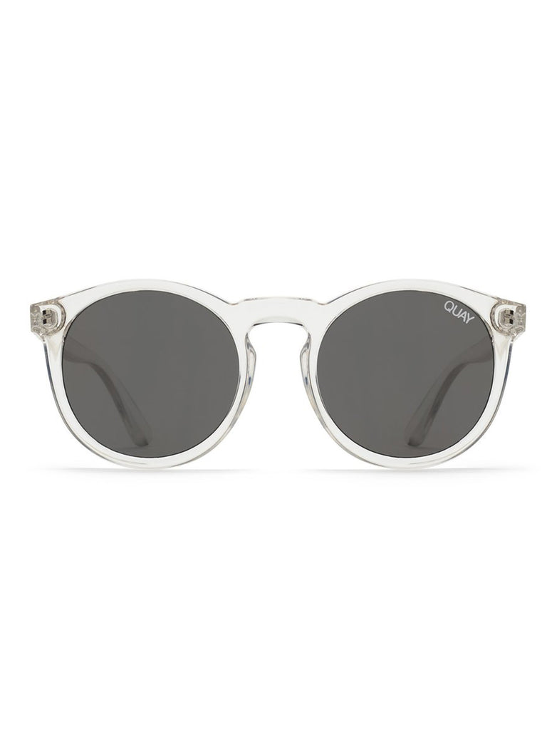 Women outfit in a sunglasses rental from Quay Australia called High Key Mini 57mm Aviator Sunglasses