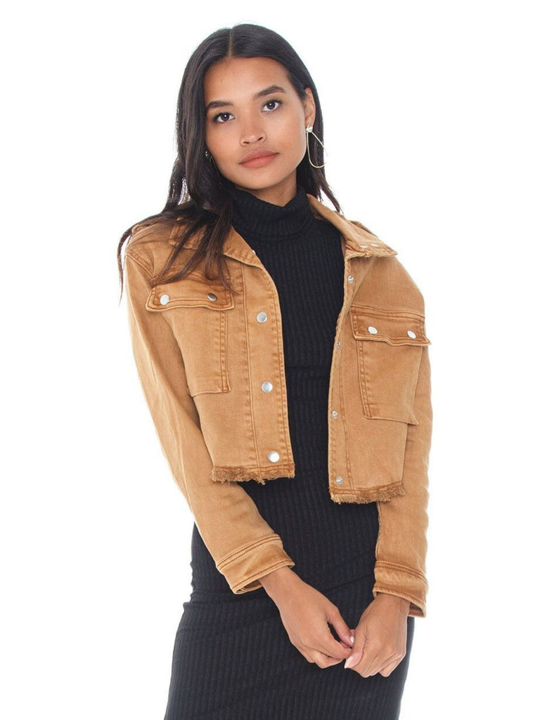 Women outfit in a jacket rental from Bishop + Young called Moto Finish Textured Moto Jacket